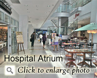 Hospital Atrium for Meals and Snacks
